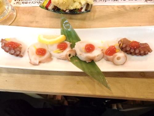 18北海道活タコ梅肉のせ