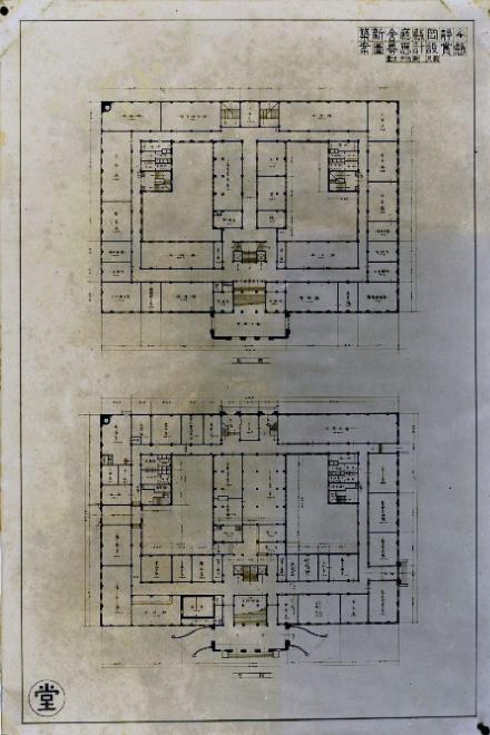 静岡県庁懸賞当選案の図1-2階