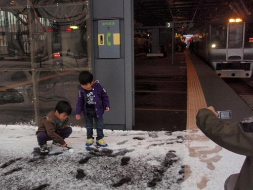 旭川の初雪
