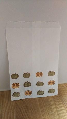 かぼちゃ柄袋