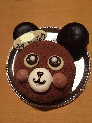 ストラスブールくまのケーキ
