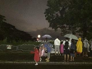 金沢動物園から見る金沢の花火大会