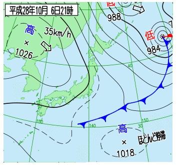 2016100621天気図