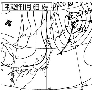 20161106地上天気図