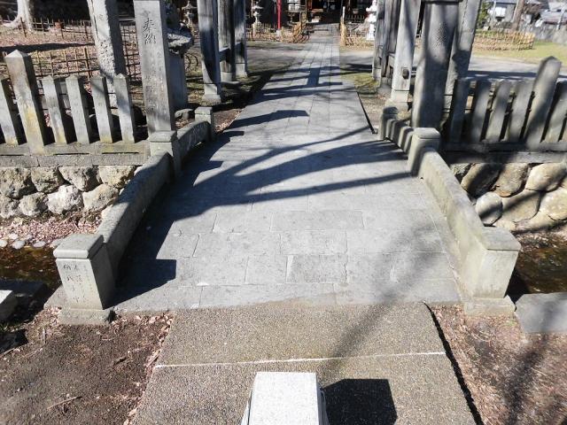 湯福神社の参道橋 (7)