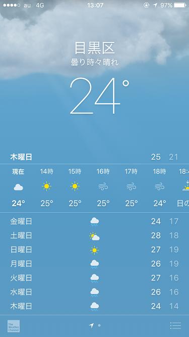iphone天気アプリ2016年5月26日 by占いとか魔術とか所蔵画像