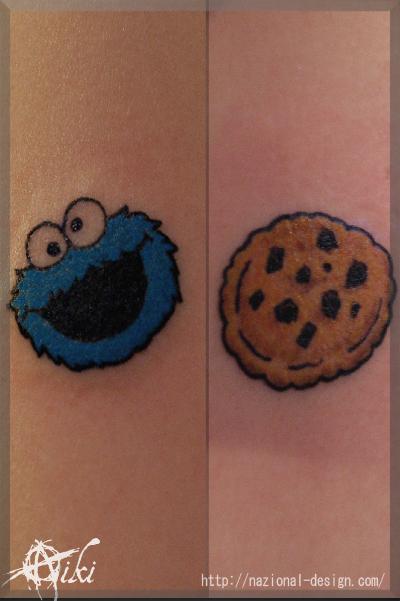 20161106 名古屋 新栄 栄 大須 tattoo タトゥー スタジオ NazionalDesign ピアス ピアッシング ボディピアス クッキーモンスター チョコチップクッキー セサミストリート Cookie Monster SESAME STR