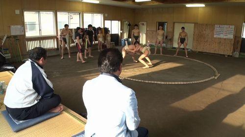 002舞の海 相撲稽古②
