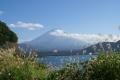 本栖湖手前から那富士山