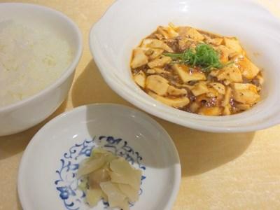 麻婆豆腐・御飯・搾菜