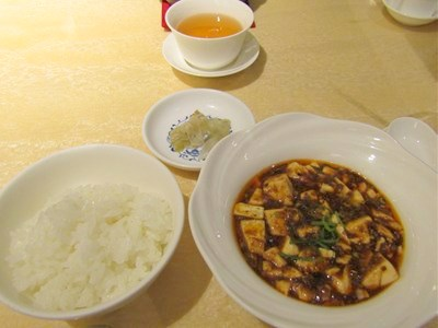 麻婆豆腐と御飯
