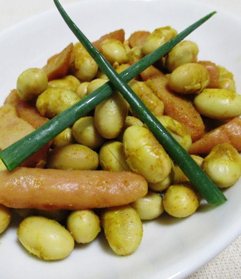 大豆のカレー炒め B