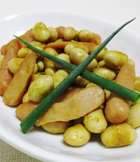 大豆のカレー炒め 大