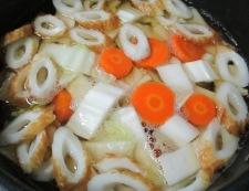 白菜竹輪 調理②