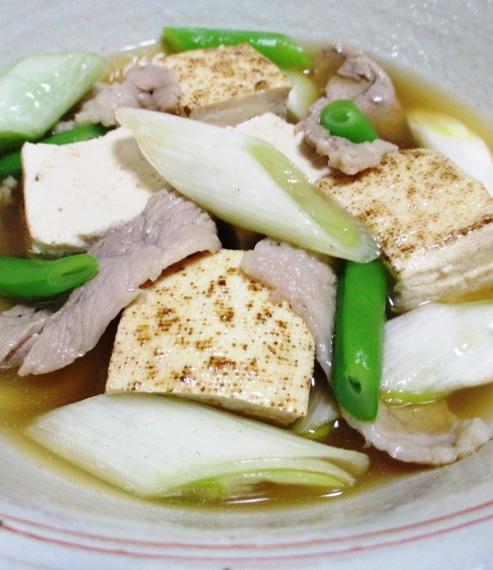 豚こまと焼き豆腐のさっと煮 B