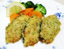 マリネ秋鮭のチーズパン粉焼き 調理④