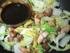 鶏もも肉と白菜のホイコーロー風 調理⑤