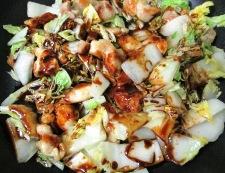 鶏もも肉と白菜のホイコーロー風 調理⑥