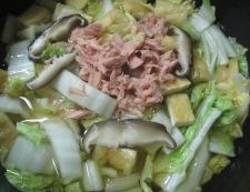 白菜とツナのうま煮 調理②