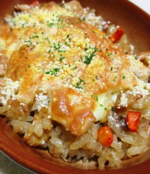 炊き込みご飯のチーズ焼き B