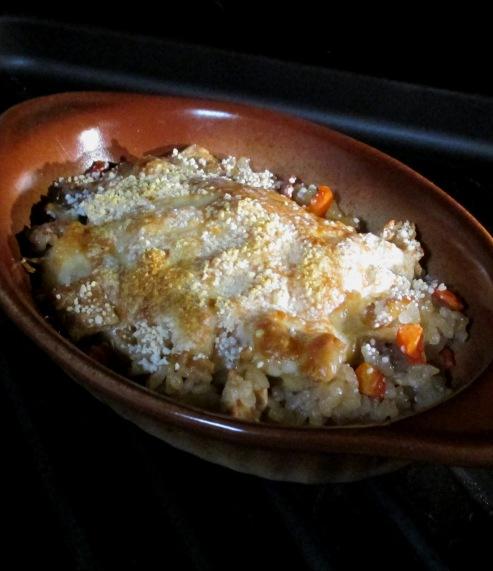 炊き込みご飯のチーズ焼き 拡大