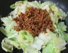 キャベツとエノキの肉味噌炒め 調理⑤