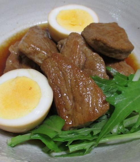 肩ロースとゆで卵のさっぱり煮 大