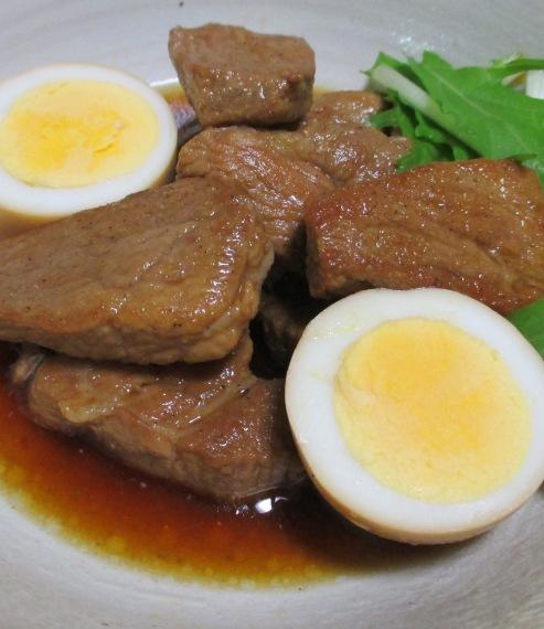 肩ロースとゆで卵のさっぱり煮 B