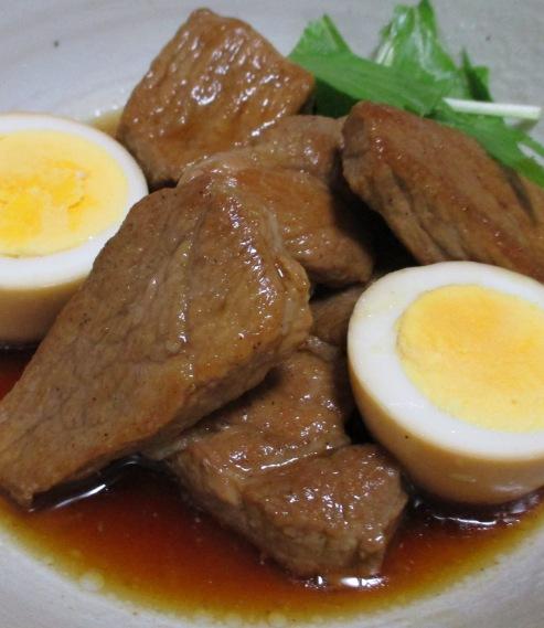 肩ロースとゆで卵のさっぱり煮 拡大