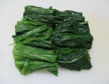 麻婆豆腐ほうれん草 調理①
