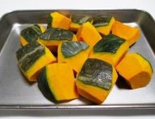かぼちゃのレモンバター醤油和え 調理①