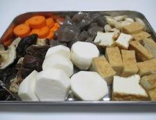 厚揚げと根菜の煮物 調理①