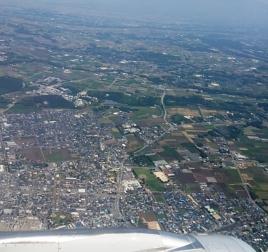 熊本空港上空から