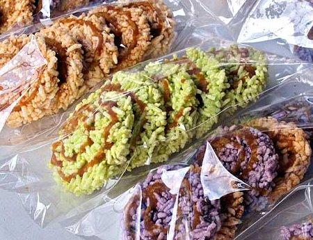 purple rice cracker
