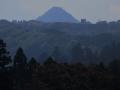 市街地から見た青葉山、太白山