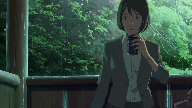『言の葉の庭』の1場面:金麦を缶から直接飲む【雪野 百香里】
