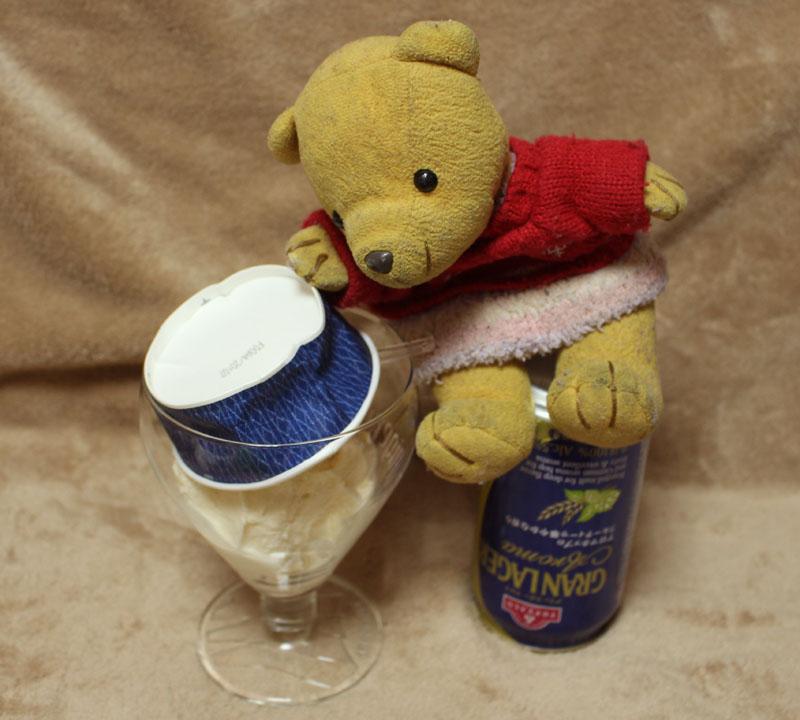 アイスをグラスに移す 160505