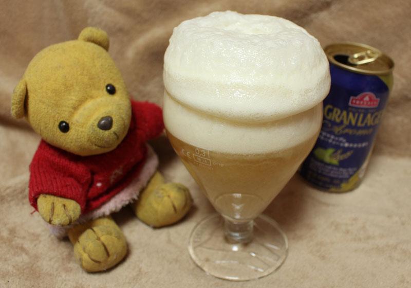 アイス+ビールの泡の盛り上がり 160505