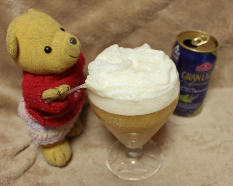 アイス+ビールの泡を掬う 160505