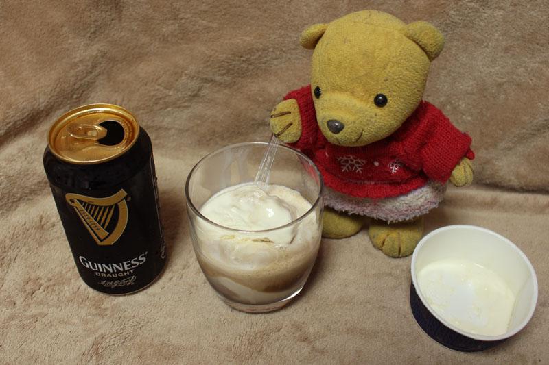 ギネス+バニラアイスを 160619