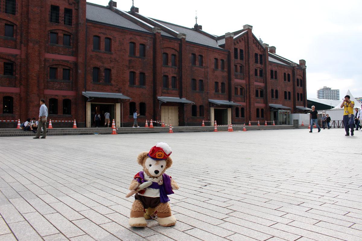 横浜赤レンガ倉庫と Duffy 161007