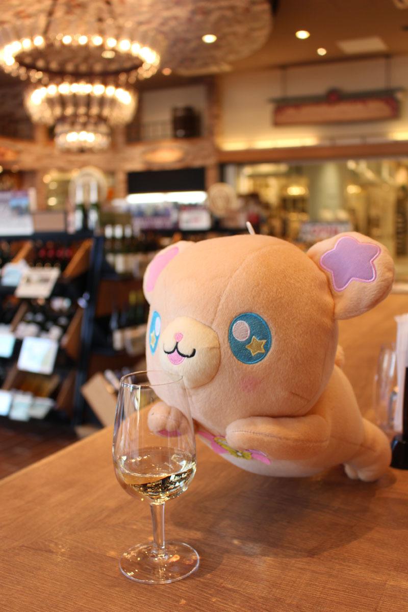 ドイツワインを飲むモフ♪ 161104