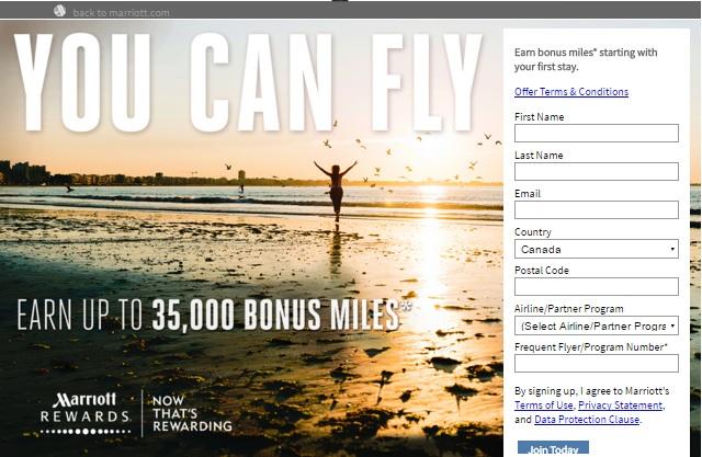 マリオットリワードに新規入会で最大35,000ボーナスマイルがもらえます。