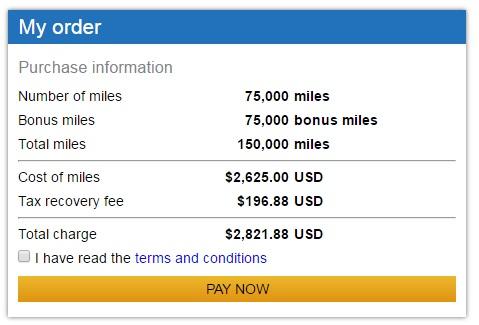 ユナイテッド航空のマイレージプラス購入マイルで100%ボーナス5月24日から27日まで1