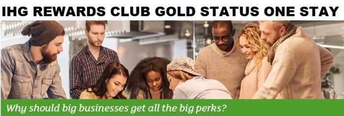 IHGリワードクラブは、登録後90日以内滞在でゴールドステータス