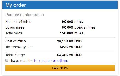 ユナイテッド航空のマイレージプラス購入マイルが最大67%ボーナス