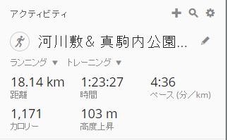 10月4日:18km