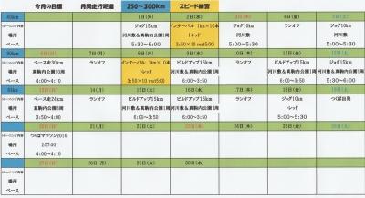 2016年11月トレーニング計画