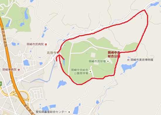 岡崎中央公園周辺理想