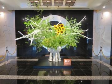 入口の生花